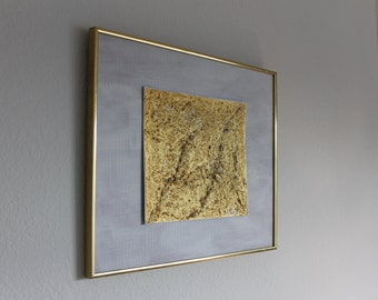A Study In Gold II - Gold Texture Painting