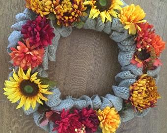 Flower Fall Wreath