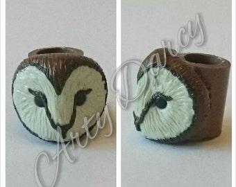 Owl dreadlock bead