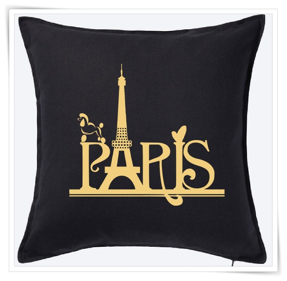 Throw Pillow Case 20 X 20 : Paris Pillow Cover 20 x 20 Decorative Cushion Throw