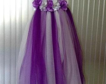 Tutu white and purple