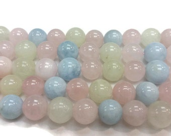 10MM Morganite Round beads .Multi  color Strands in Top Quality , wholesale price for natural morganite