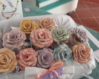 Rose handmade ceramic
