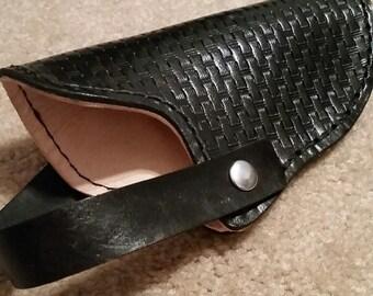 Black Leather Gun Holster