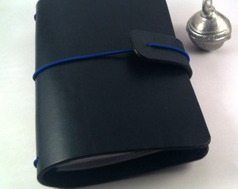 Leather Cover, Leather Journal Cover, Midori, Moleskine, Gift for Him, Travelers Notebook Cover, Passport, A5 Cover, in NAVY