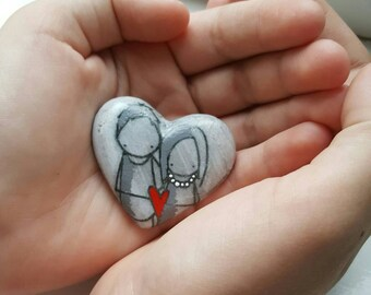 Special wedding favours - wishing stones - guest book stones - alternative stone guest book - wedding pebbles - wedding pebble art -RD007