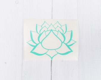 Lotus Flower Decal | Lotus Flower Sticker| Yoga Decal | Lotus Decal |coffee cup decal | car decal | iPhone decal | Yeti decal