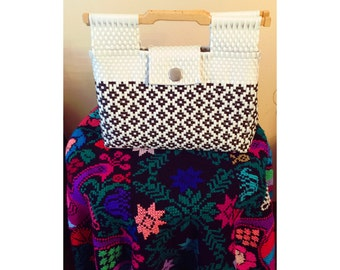 Mexican tote bag ,handwoven Mexican bag,picnic basket,beach bag, Cultural chick