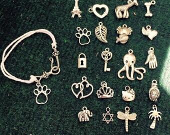 Bracelet with tibetan silver charm