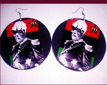 Marcus Garvey rbg wood earrings
