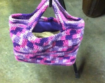 Plum Purple Crocheted Purse