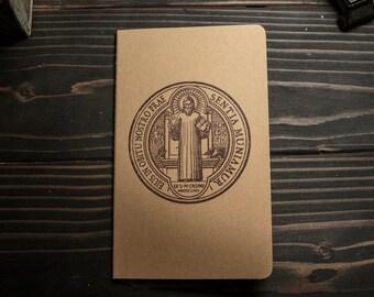 St. Benedict Medal Design, Moleskine Catholic Journal— Free Shipping!