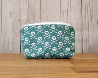 Skull Print Coin Purse, Large
