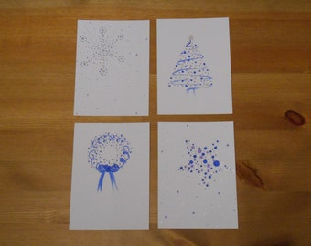 Spotty Dotty Christmas Card Collection -Set of 4