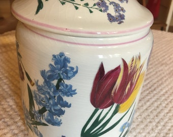 Beautiful RB Bernarda Wildflowers Canister from Portugal