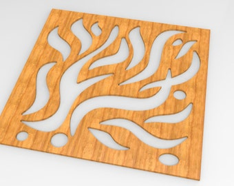 Flame style wooden handmade room division, wall decoration panel