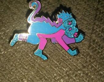 Aztec monkey w/ glitter