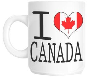 Canada I Love Novelty Gift Mug SHAN134