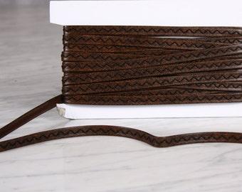 5 m Ribbon 10mm, polyurethane, Brown (0165)