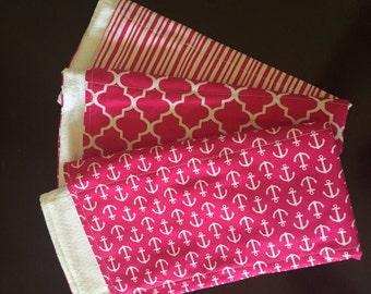 Anchor Burp Cloth Pink