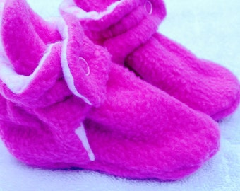 fleece baby booties with multiple color selections