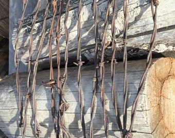 12 Barb Wire Strips - Craft Supplies - Rusty Old Barbed Wire - Barbed Wire Art - Make Your Own - Rustic Decor - Rusted Wire - Barb Wire