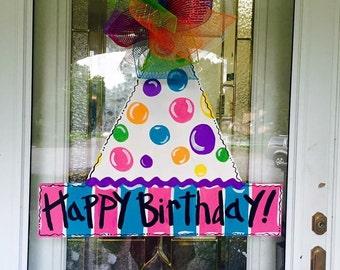 Birthday door hanger