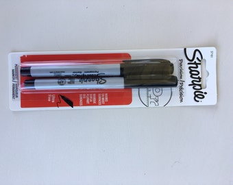 Sharpie Precision Ultra Fine Permanent Marker Black Ink 2 Pack
