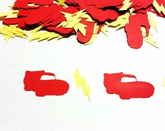 Cars confetti with lighting bolts, Lighting Mcqueen confetti 200 pieces