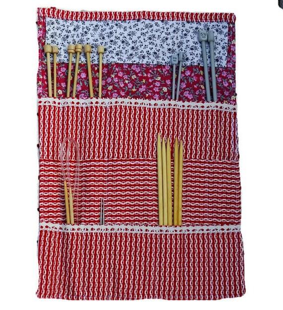 Knitting Needle Organizer Pattern : SALE Knitting needle case Knitting needle organizer