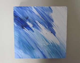 Original Abstract Painting 8x8 Stretched Canvas