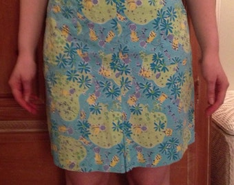 """Lilly Pulitzer """"Blue Swing"""" Golf Skort with Mice Playing Golf"""
