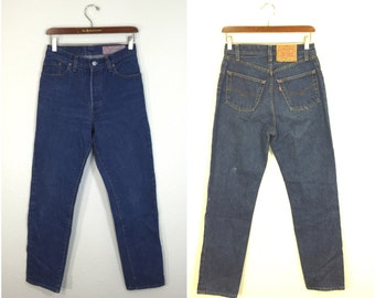 90's womens levi's 501 jeans denim pants made in usa size 28