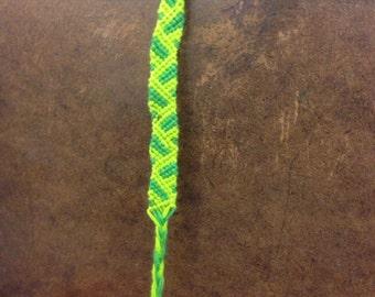 Double green bracelet