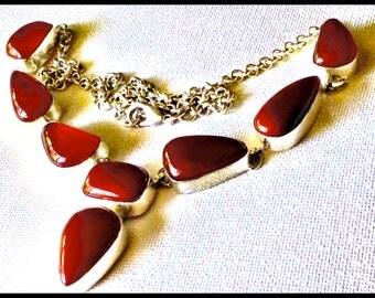 58g Sterling, Carnelian Necklace, Necklace, Elegant New