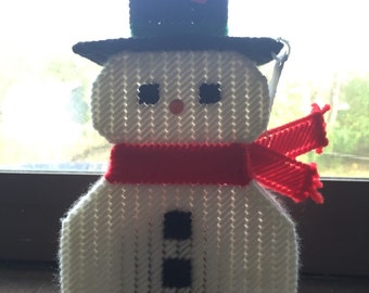Snowman container with potpourri