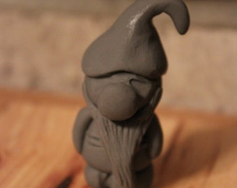 Miniature Gnome Garden Statue ~ Polymer Clay