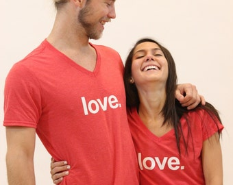 Love. - Ladies yoga activewear  tri-blend V-neck Tee- Style 675