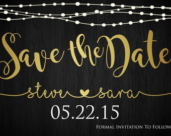 Save The Date Wedding Announcements