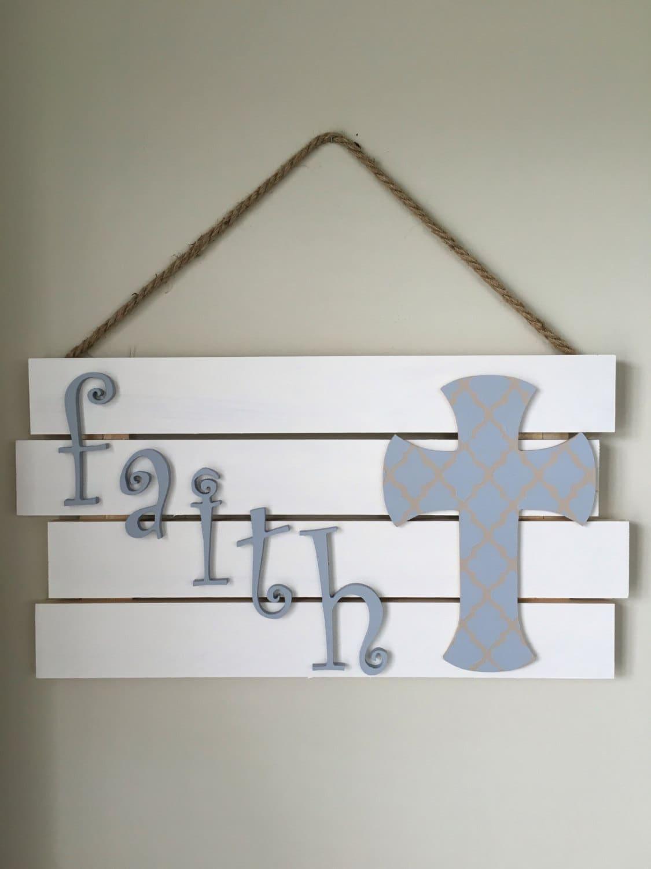 Faith wall decor pallet sign for Faith decor