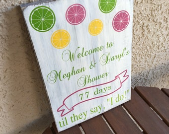 Pucker Up, Wedding Decor, Personalized Decor, Wedding Sign, Home Decor