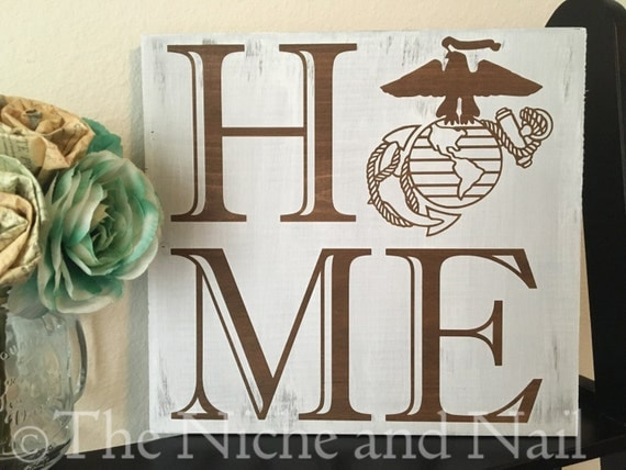 Marine Corps Sign Home EGA Sign Rustic Military Decor