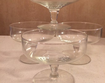 Set of Four Footed Dessert Glasses