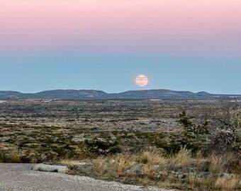 Full Moon Rising in West Texas