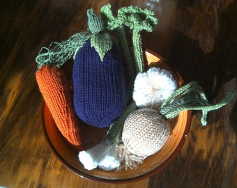 Knitted Vegetables - Play pretend food for kids