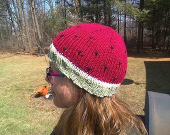 Watermelon Hat - handknit kids hat knitted kid's hat