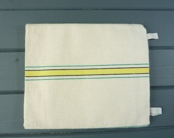 Vintage French linen tea towel, extra large size. New old stock. 3 available.
