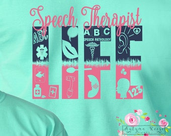 Speech Therapist Pathologist Monogrammed Shirt Specialized Speech Pathologist