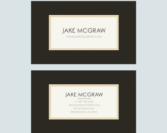 Business Card Template - Photoshop Templates PSD *INSTANT DOWNLOAD*