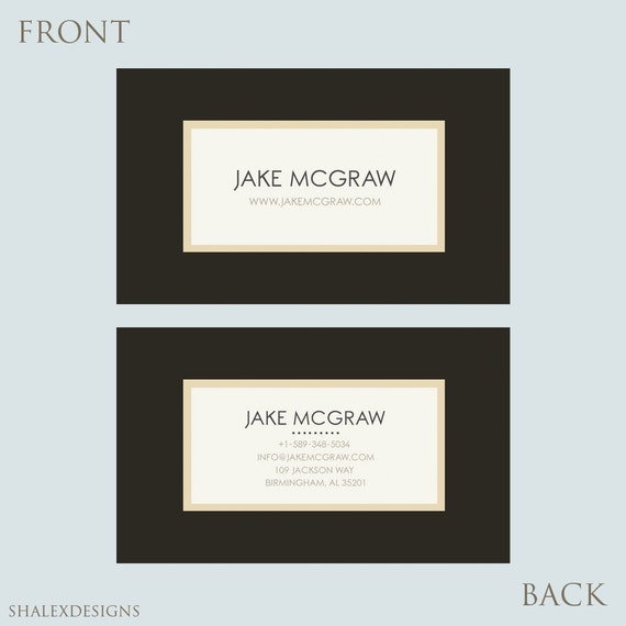 business card template photoshop templates psd instant